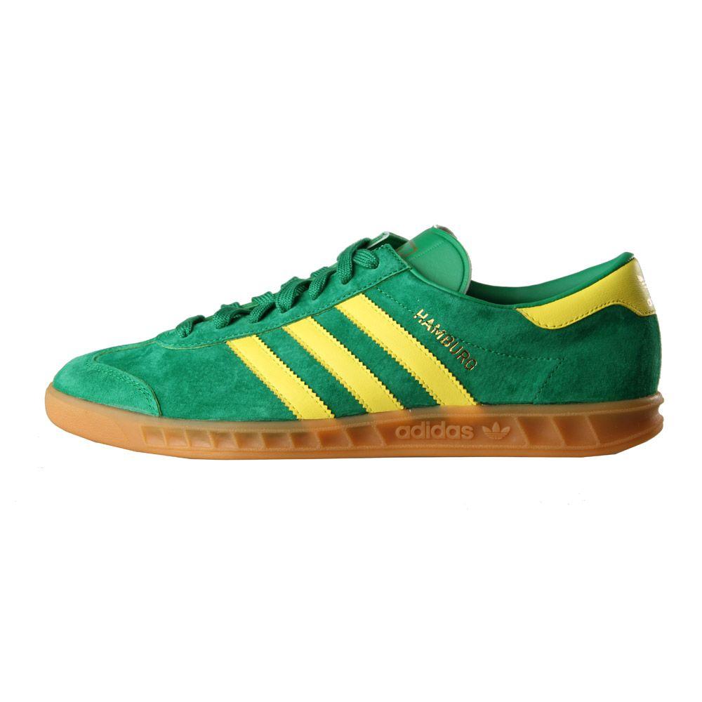 adidas Hamburg Trainers | Green Yellow B24966 | Aphrodite1994