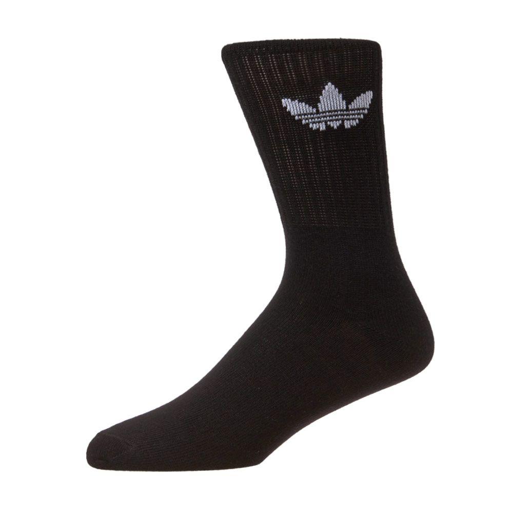 adidas Originals Solid Crew 3 Pack Socks S21490 Black
