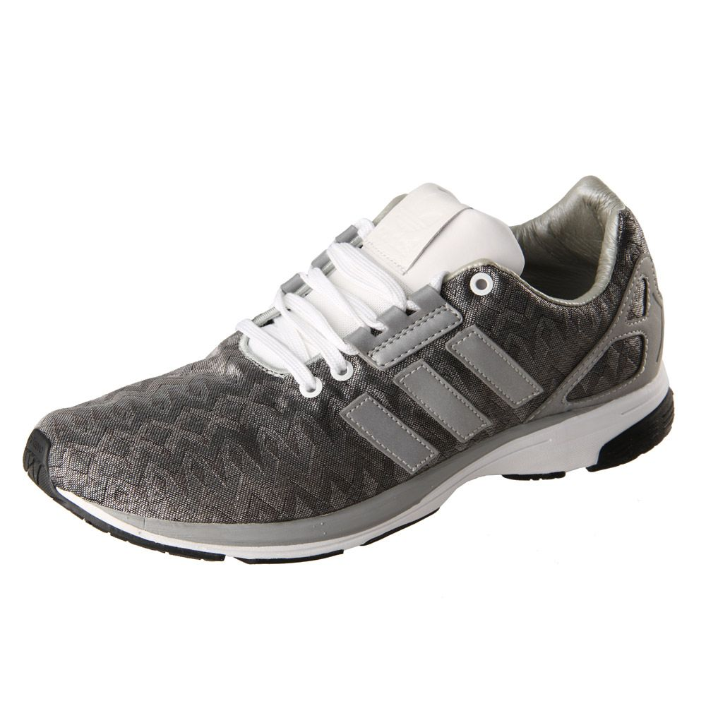 sneakers for cheap ad90f f7ba1 Adidas Originals ZX Flux Tech Trainers in Metallic Silver ...
