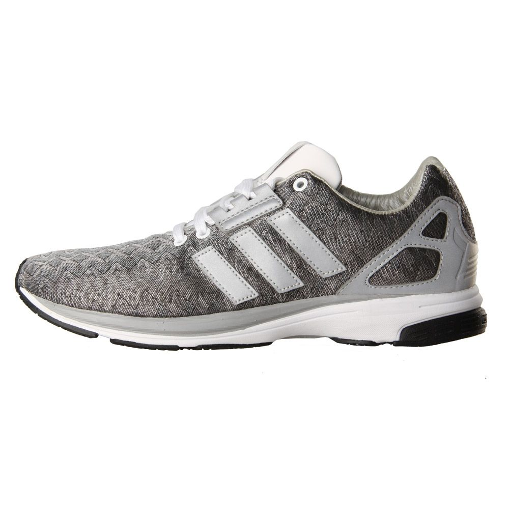 baskets pour pas cher babd5 cf8c4 Adidas Originals ZX Flux Tech Trainers in Metallic Silver ...
