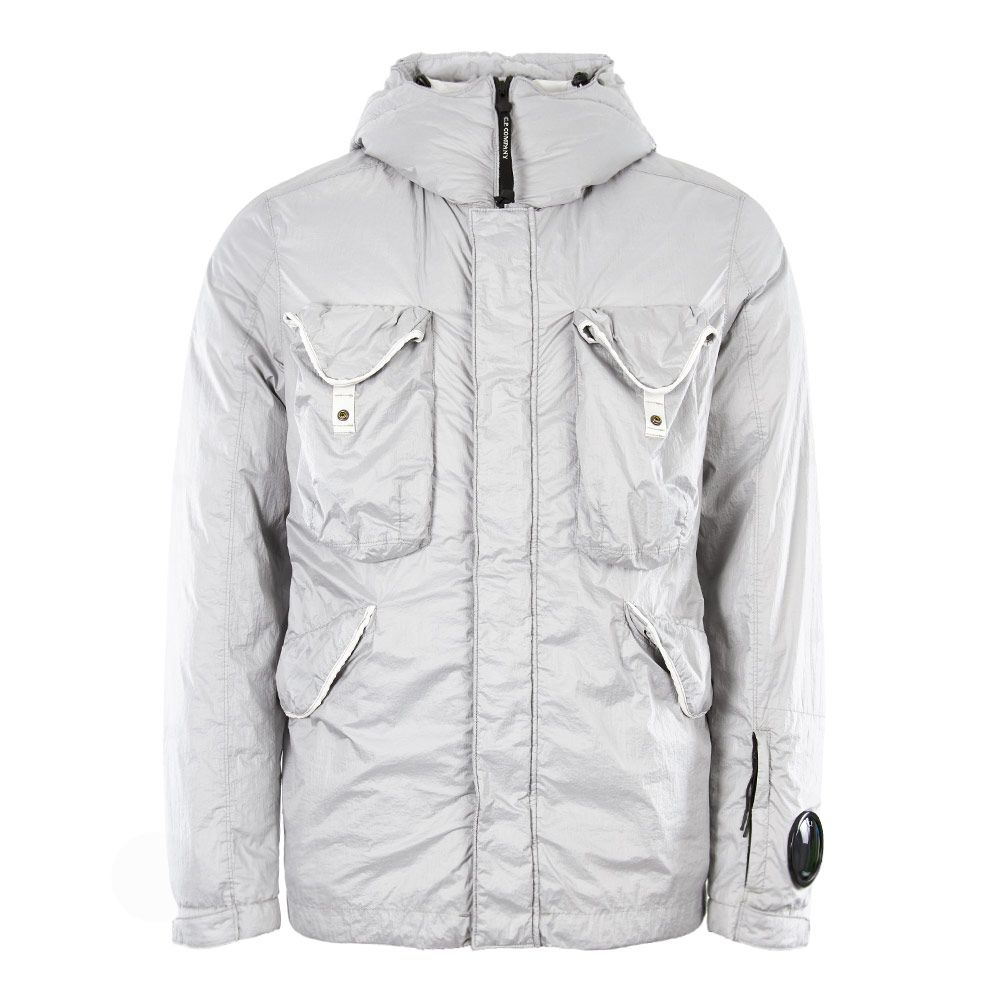 bd6d72815 CP Company Down Nyfoil Goggle Jacket | MOW098A 005165G 103 Grey | Aphr