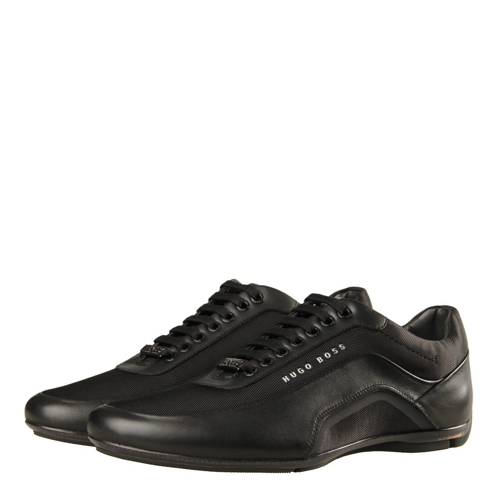 select for genuine high quality materials new style Hugo Boss Black Trainers | HBracing Lowp 50321681 Black ...