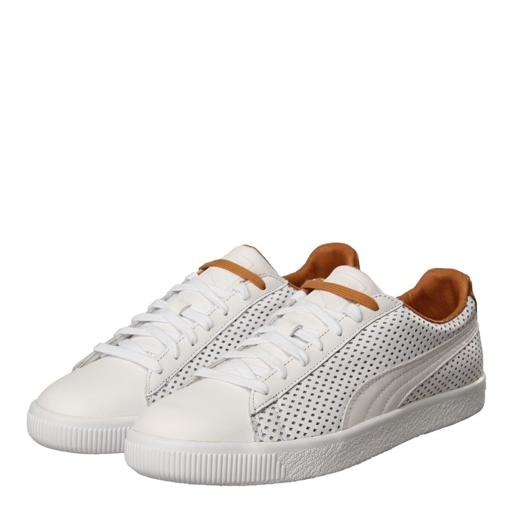 new concept 66c85 0db31 Puma Clyde Colorblock 2 Trainers White | 363833 01 ...