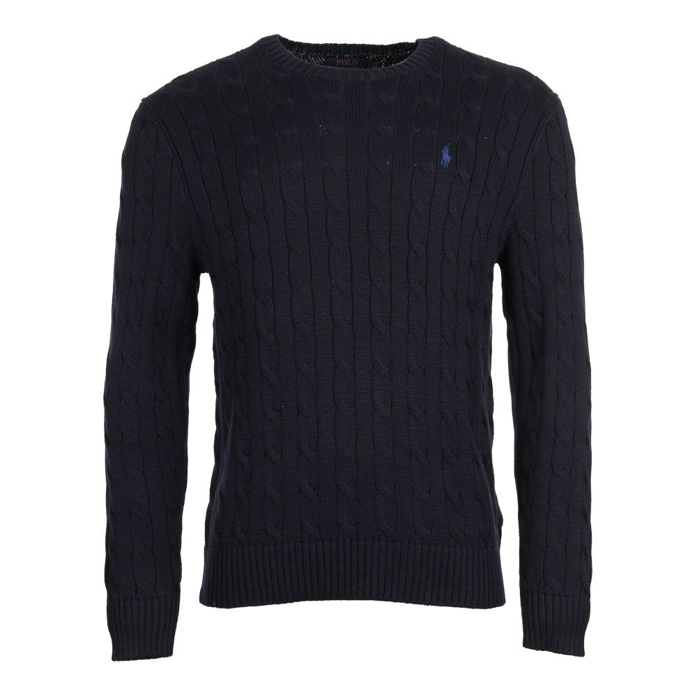 lower price with offer discounts best selling Cable Knit Jumper - Navy