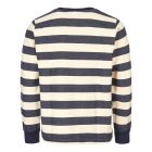 Sweatshirt Ribless - Navy / Ecru Stripe