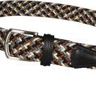 Woven Belt - Navy/Brown