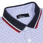 Fred Perry Polka Shirt In Light Smoke