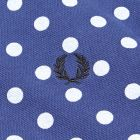 Polka Dot Pique Polo Shirt - Medieval Blue