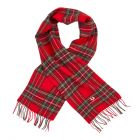 Fred Perry Royal Stewart Tartan Scarf | C2114 943 Red