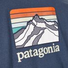 T-Shirt Line Logo Ridge Pocket - Dolomite Blue