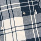 Paul Smith Jeans Brushed-Cotton Check Shirt in Petrol Blue