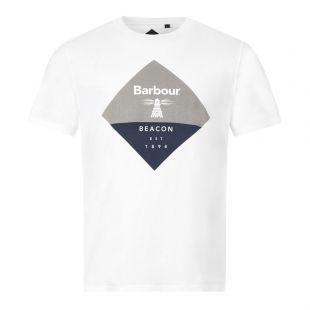 Barbour T-Shirt Diamond Logo MTS0474 WH12 White