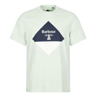 Barbour Beacon T-Shirt Diamond Logo | Dusty Mint | Aphrodite