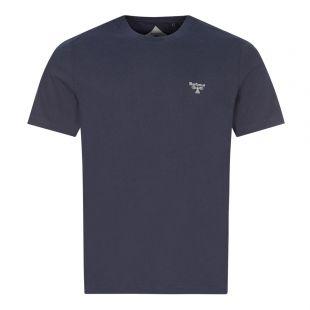 Barbour Beacon T-Shirt Small Logo   Navy