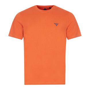Barbour Beacon T-Shirt Small Logo   Orange