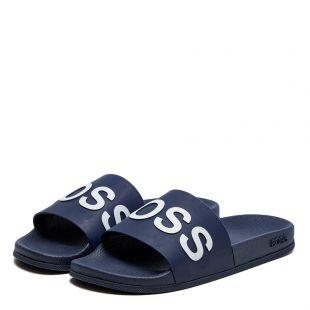 Sliders Logo - Navy / White