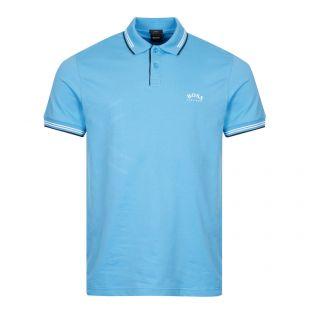 BOSS Athleisure Paul Polo Shirt Curved Logo | Open Blue
