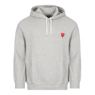 Comme des Garcons PLAY Small Logo Hoodie   Grey