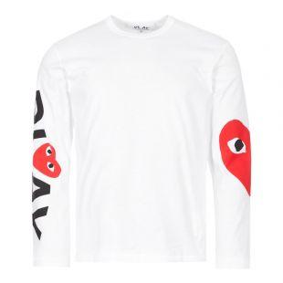 Comme des Garcons PLAY Long Sleeve Arm Logo & Heart T-Shirt