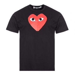 Comme des Garcons PLAY Heart Logo T-Shirt   Black