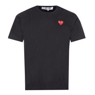 Comme Des Garcons PLAY T-Shirt Heart Logo   Black   Aphrodite
