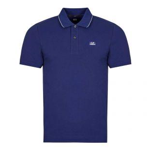CP Company Short Sleeve Logo Polo, Blueprint, Aphrodite1994