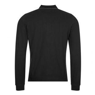 Long Sleeve Logo Polo - Black