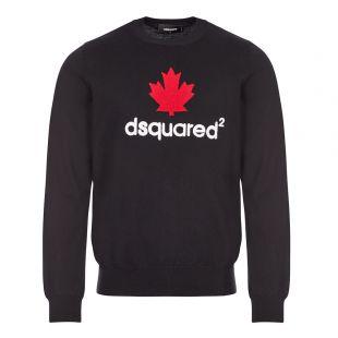 dsquared logo jumper black