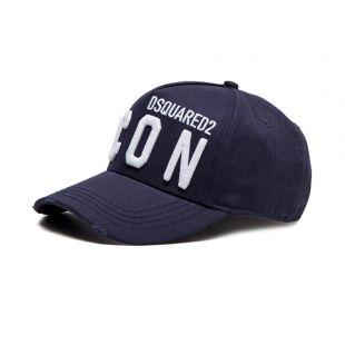 dsquared icon logo cap | navy