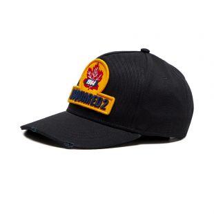 dsquared cap leaf logo | black