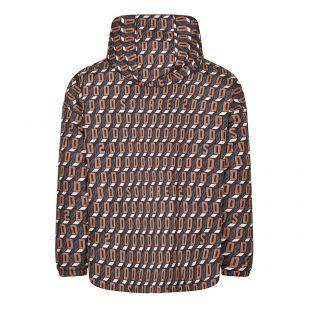 Windbreaker Jacket Logo Print - Brown