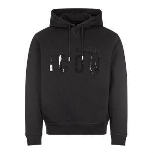 dsquared hoodie icon logo   black
