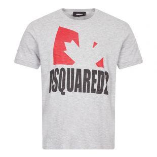DSquared Logo T-Shirt, S74GD0863 S22146 857M Grey, Aphrodite 1994