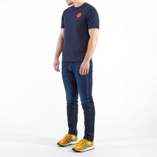 T-Shirt Sun Logo - Navy