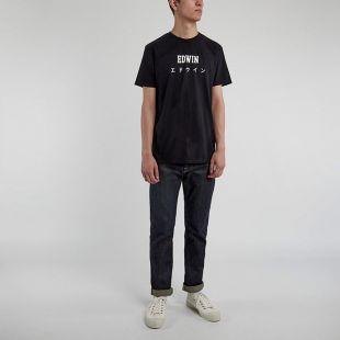 T Shirt Japanese Logo - Black