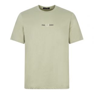 fred perry t-shirt embroidered logo seagrass
