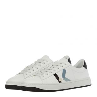 K Logo Sneakers - White