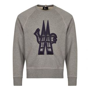 Moncler Grenoble Logo Sweatshirt | Grey | Aphrodite 1994
