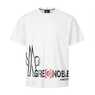 Moncler Grenoble T-Shirt Logo | 8C707 10 829HD 21D White | Aphrodite