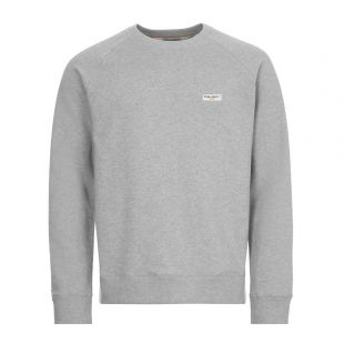Nudie Jeans Samuel Logo Sweatshirt , 150380 GREY , Grey Melange