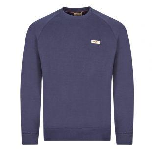 Nudie Jeans Samuel Logo Sweatshirt   150380 MIGNIGHT Midnight