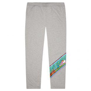 Cartoonish Logo Sweatpants - Grey Melange