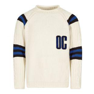 Opening Ceremony OC Logo Sweater | Off White / Royal Blue
