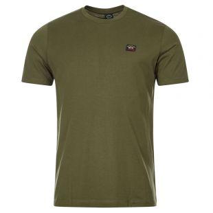 Paul and Shark Logo Badge T-Shirt   C0P1002 132 Olive