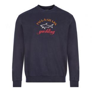 Paul and Shark Logo Sweatshirt | C0P1021 013 Navy