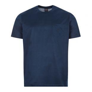Paul & Shark T-Shirt Logo Embroidery  C0P1011 013 Navy