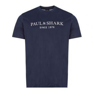 Paul and Shark T-Shirt Silver Logo | 21411022 013 Navy | Aphrodite