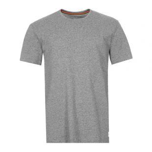 Paul Smith T-Shirt Patch Logo   M1A 591B AU902 76 Slate Grey   Aphrodite