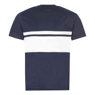 T-Shirt Grid Logo - Navy / White
