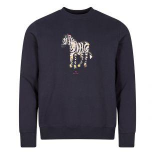 Paul Smith Logo Sweatshirt Large Zebra | Dark Navy